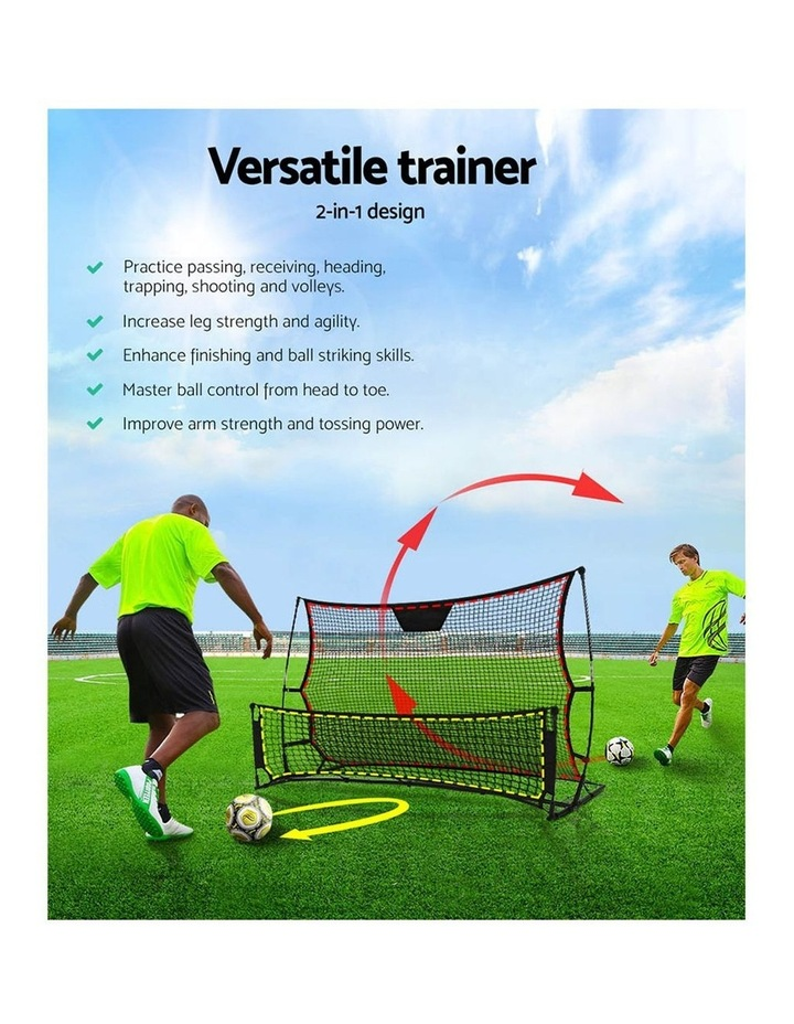 Portable Soccer Rebounder Net Volley Training Football Goal Pass Trainer image 3