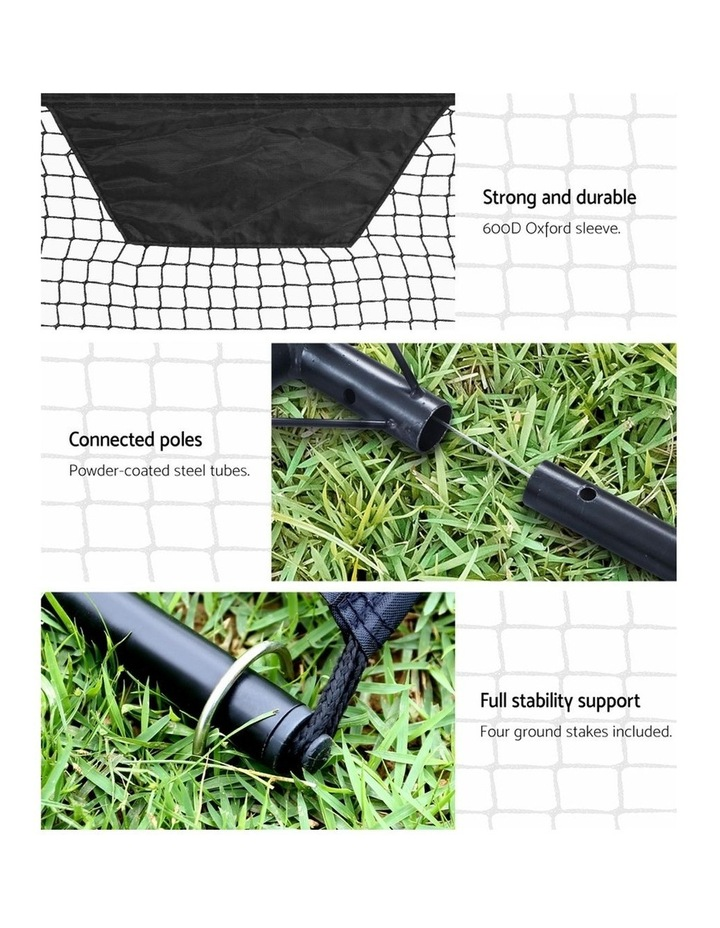 Portable Soccer Rebounder Net Volley Training Football Goal Pass Trainer image 4