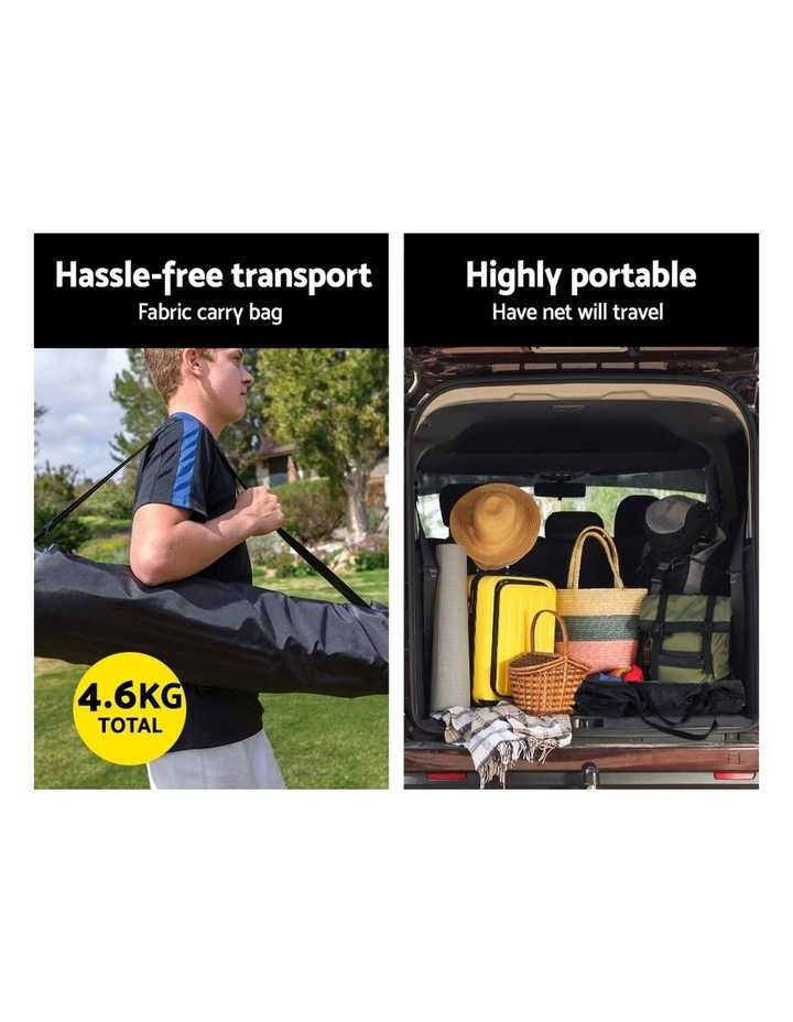 Portable Soccer Rebounder Net Volley Training Football Goal Pass Trainer image 5