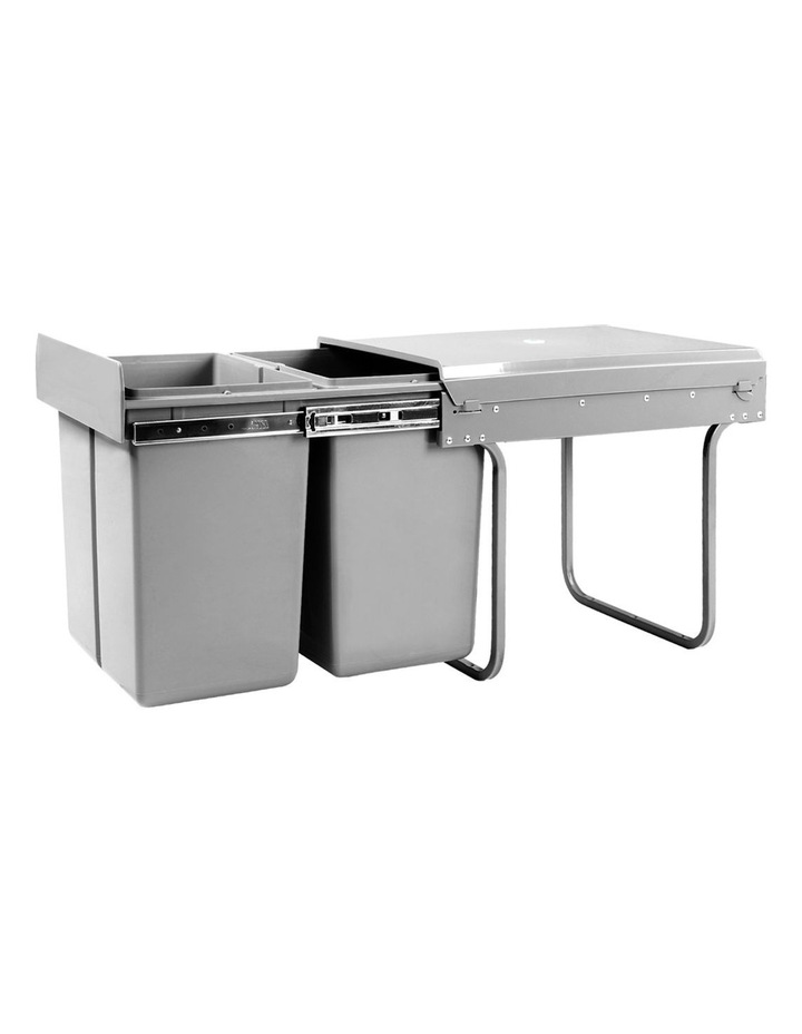 Set of 2 20L Twin Pull Out Bins image 1
