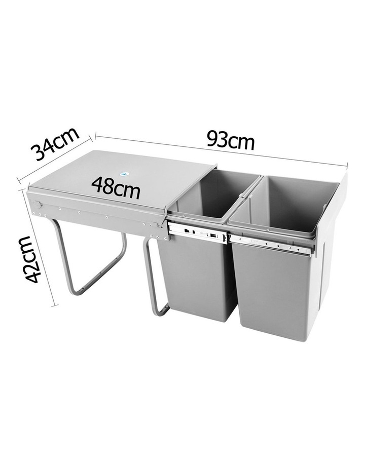 Set of 2 20L Twin Pull Out Bins image 3