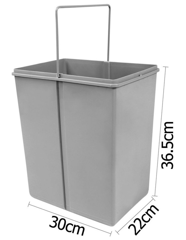Set of 2 20L Twin Pull Out Bins image 4