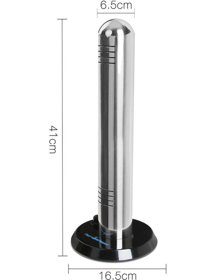 Stainless Steel Air Purifier - Plasma Ioniser Tower image 2