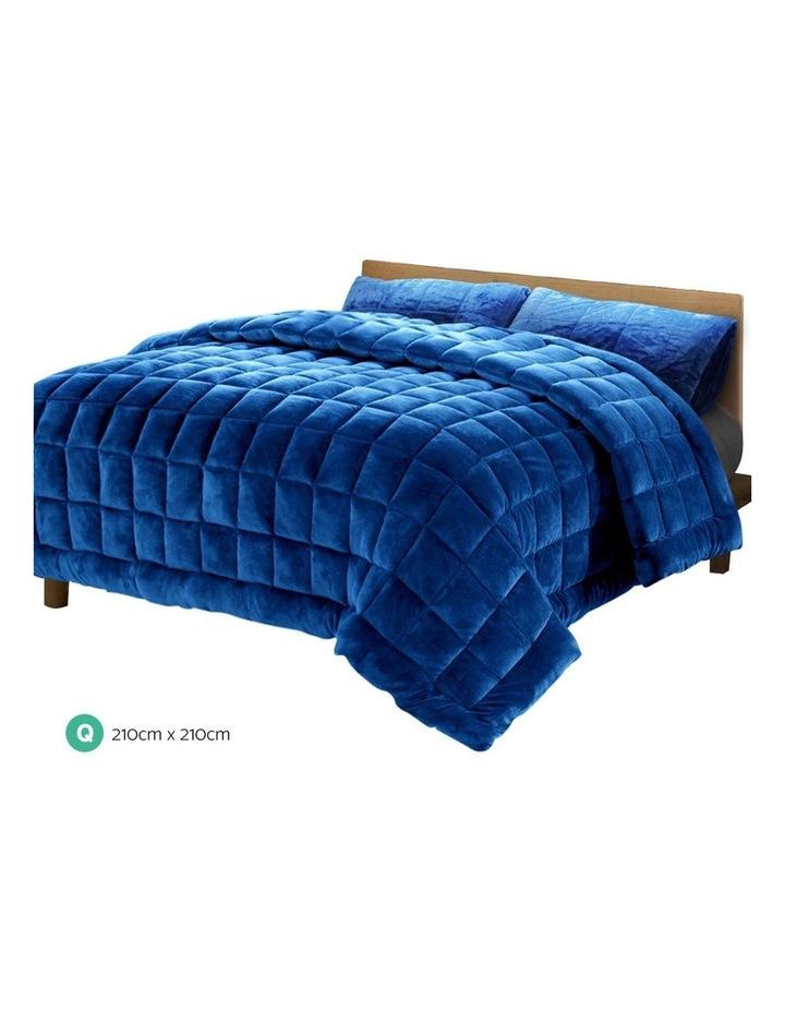 Faux Mink Quilt Duvet Doona Fleece Throw Blanket image 2