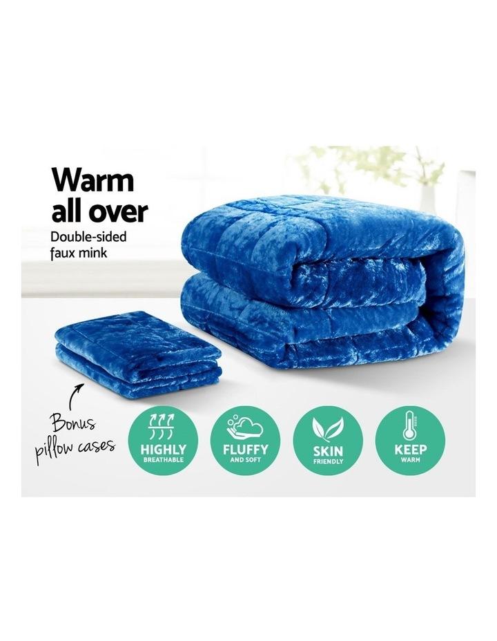 Faux Mink Quilt Duvet Doona Fleece Throw Blanket image 3