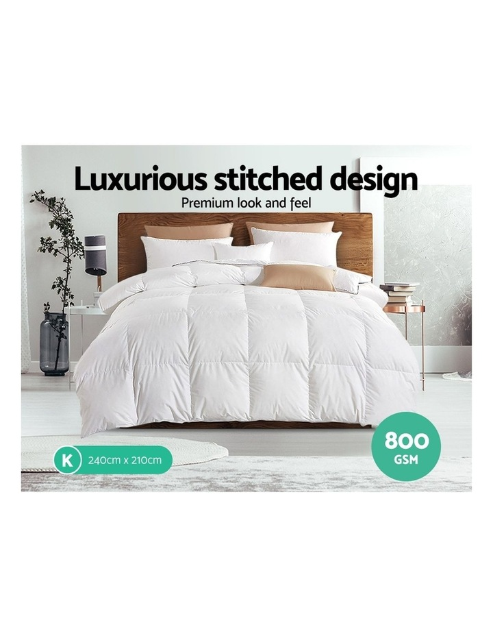 Goose Down Feather Winter Quilt Cover Duvet Doona 800GSM image 4