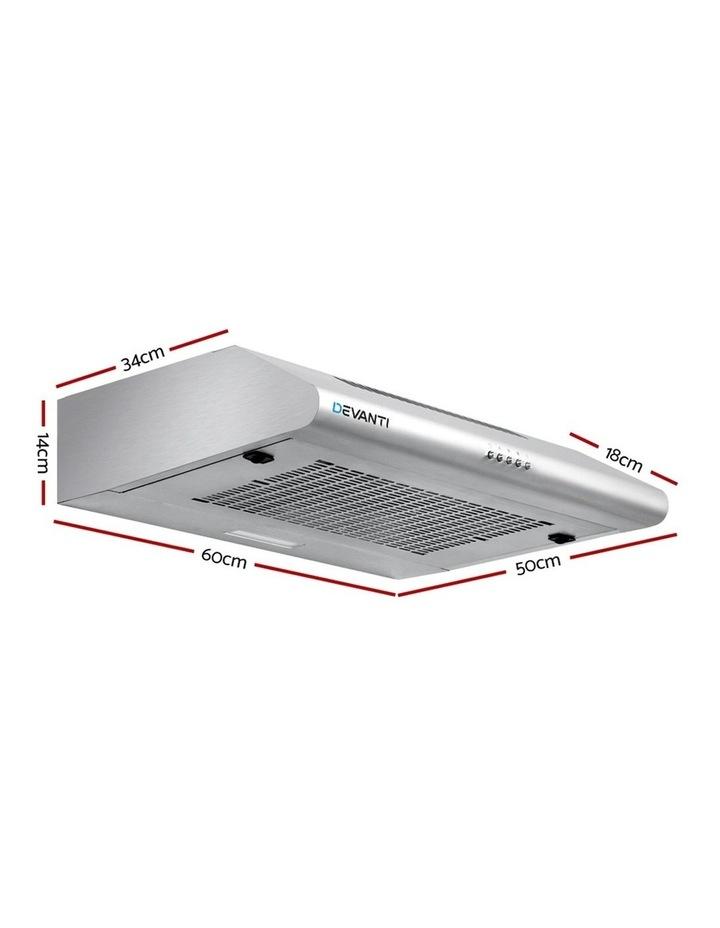Fixed Range Hood Rangehood Stainless Steel Kitchen Canopy 60cm 600mm image 2