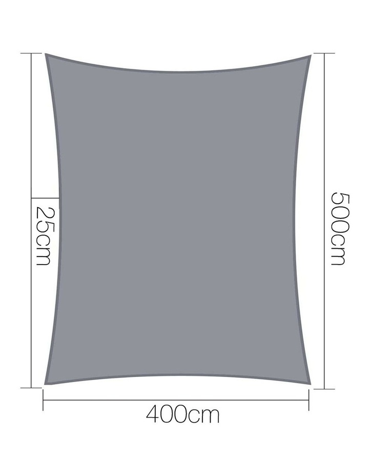 Sun Shade Sail Cloth Shadecloth Outdoor Canopy Rectangle 280gsm 4x5m image 2