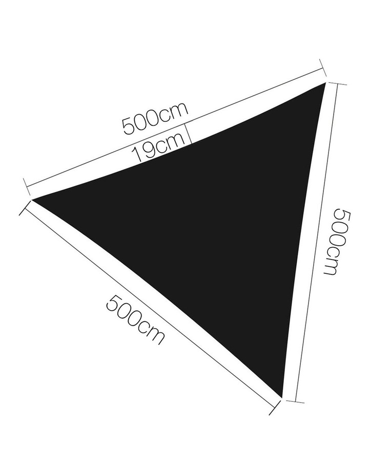 Sun Shade Sail Cloth Shadecloth Outdoor Canopy Triangle 280gsm 5x5x5m image 2