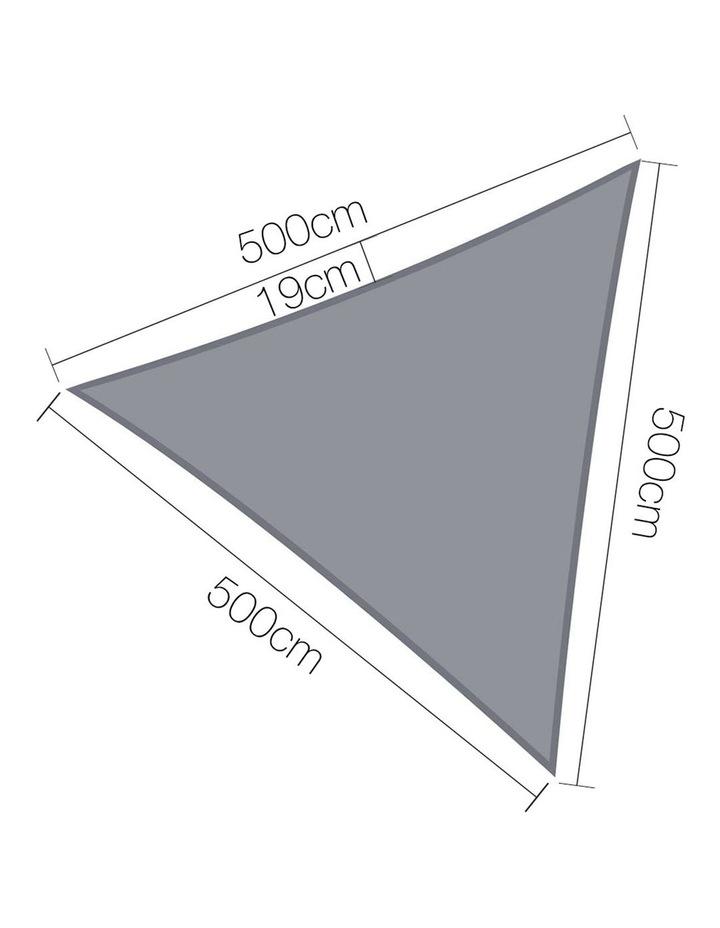 Sun Shade Sail Cloth Shadecloth Outdoor Canopy T5x5x5m image 2