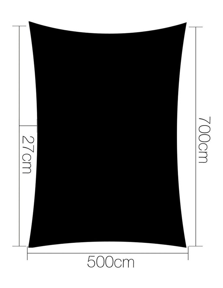 Sun Shade Sail Cloth Shadecloth Outdoor Canopy Rectangle 280gsm 5x7m Summertime image 2