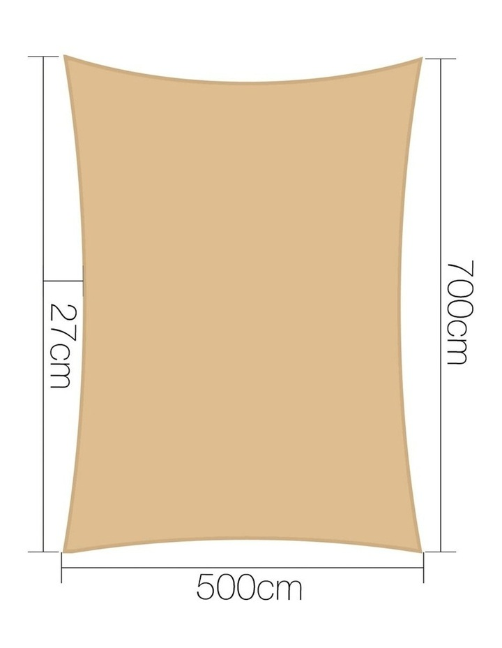 Sun Shade Sail Cloth Shadecloth Outdoor Canopy Rectangle 280gsm 5x7m Summer image 2