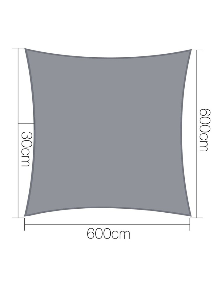 Sun Shade Sail Cloth Shadecloth Outdoor Canopy Rectangle 280gsm 6x6m image 2