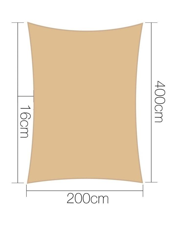Sun Shade Sail Cloth Shadecloth Rectangle Heavy Duty Sand Canopy 2x4m image 2