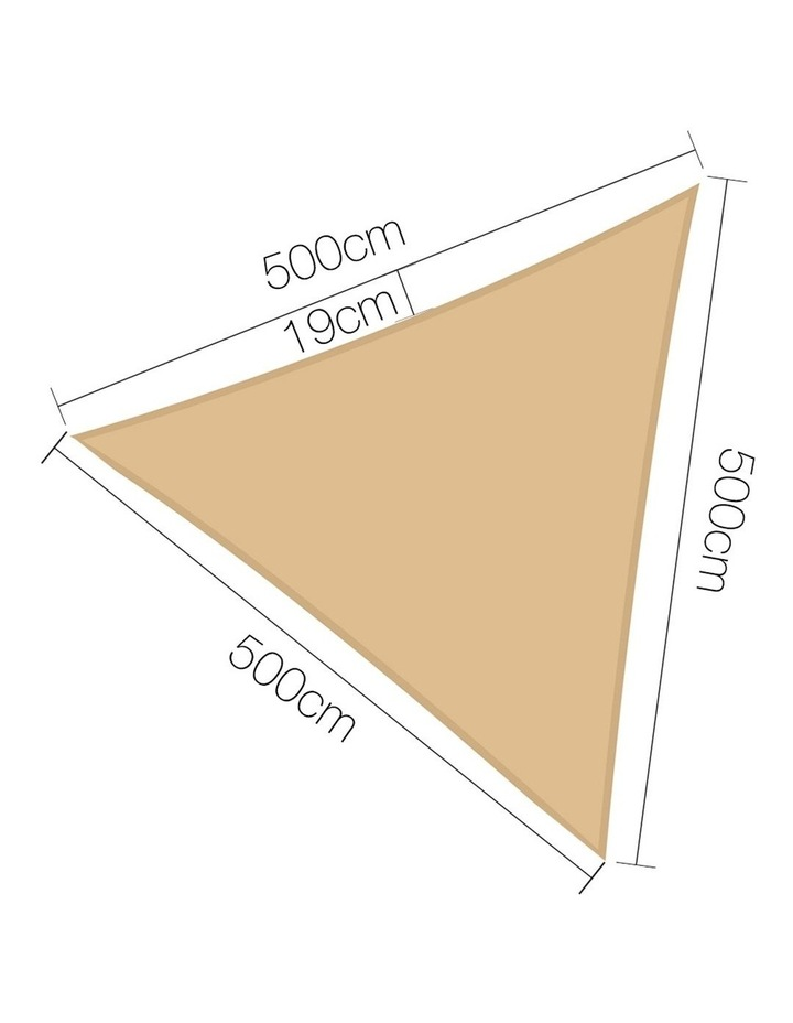Shade Sail Cloth Shadecloth Triangle Heavy Duty Sand Sun Canopy 5x5x5m Summer image 2