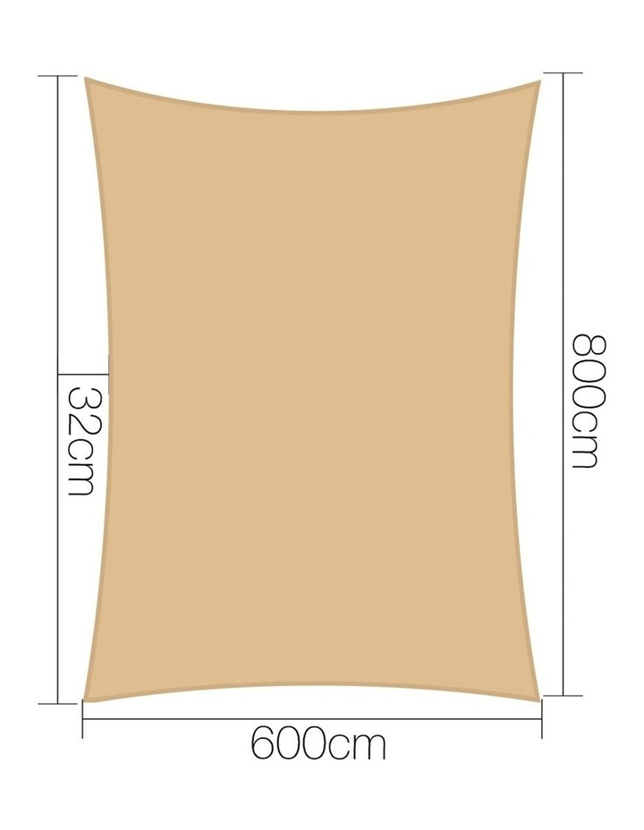 Shade Sail Cloth Shadecloth Rectangle 6x8m image 2