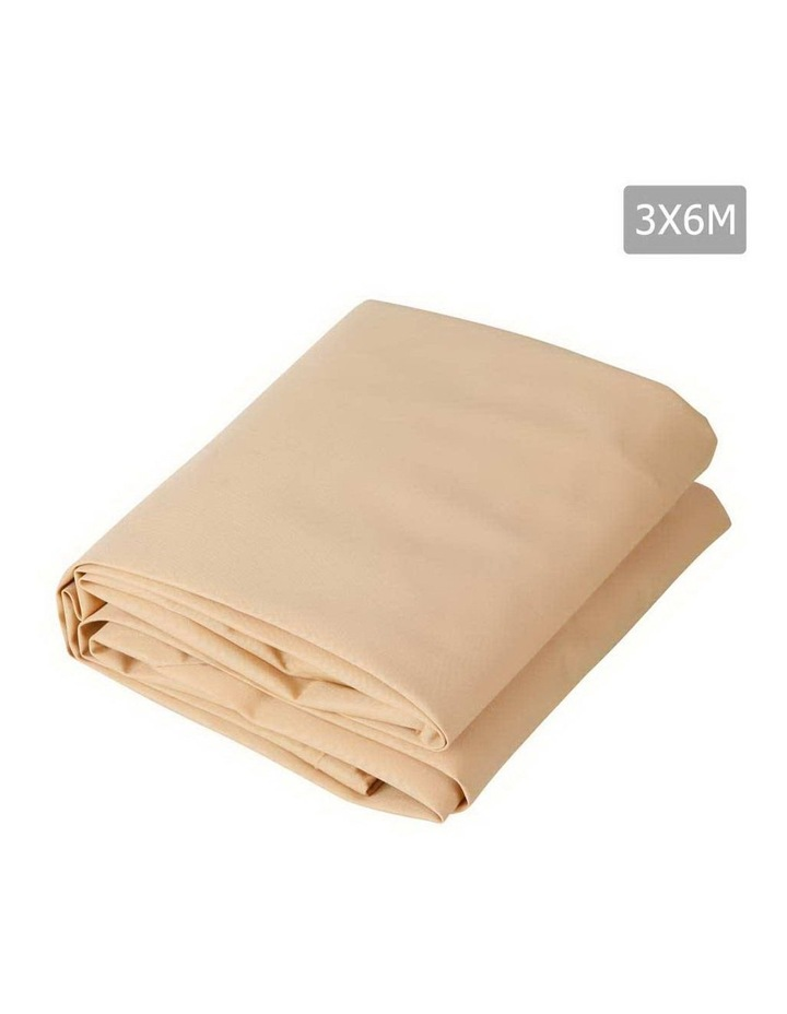 3 x 6m Waterproof Rectangle Shade Sail Cloth - Sand Beige image 1