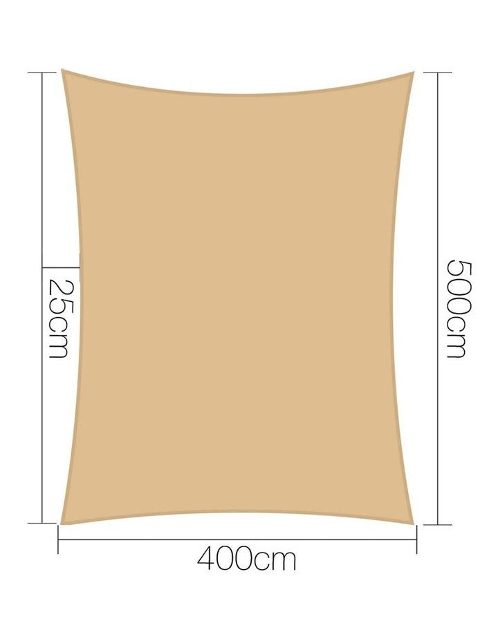 4 x 5m Waterproof Rectangle Shade Sail Cloth - Sand Beige image 2
