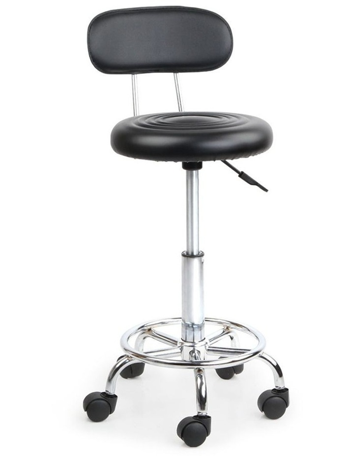 PU Leather Swivel Chair with Backrest image 1