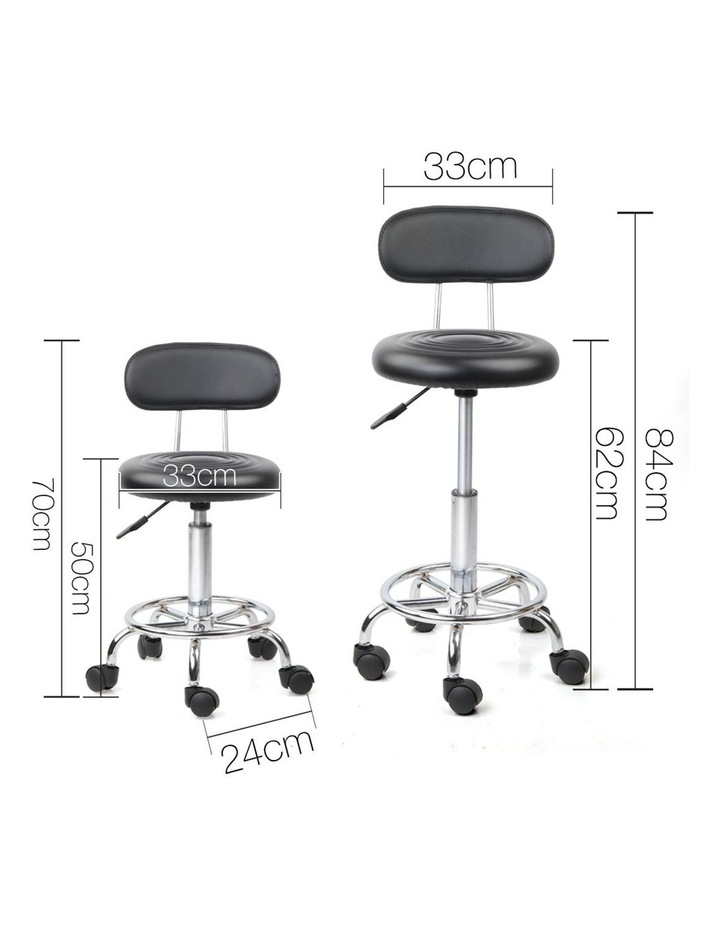 PU Leather Swivel Chair with Backrest image 2