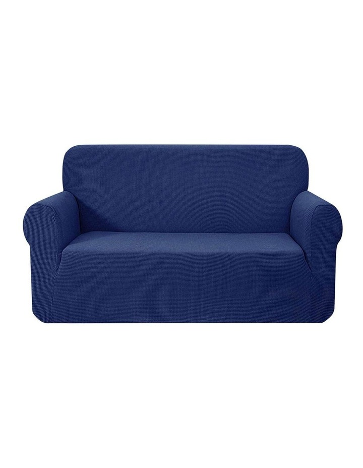 High Stretch Sofa Cover Couch Lounge Protector Slipcovers 2 Seater Navy image 1