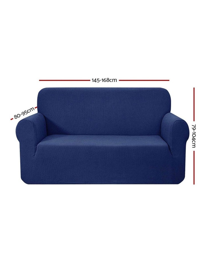 High Stretch Sofa Cover Couch Lounge Protector Slipcovers 2 Seater Navy image 2