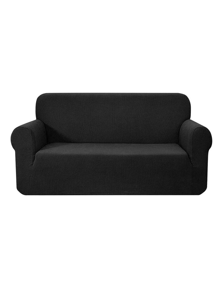 High Stretch Sofa Cover Couch Lounge Protector Slipcovers 3 Seater Black image 1