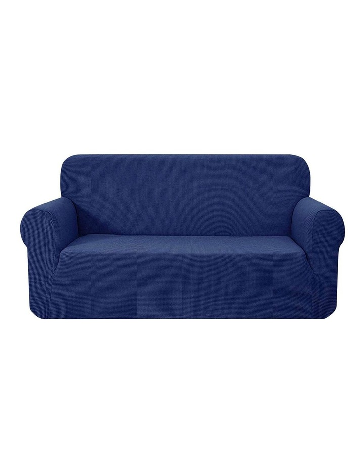 High Stretch Sofa Cover Couch Lounge Protector Slipcovers 3 Seater Navy image 1