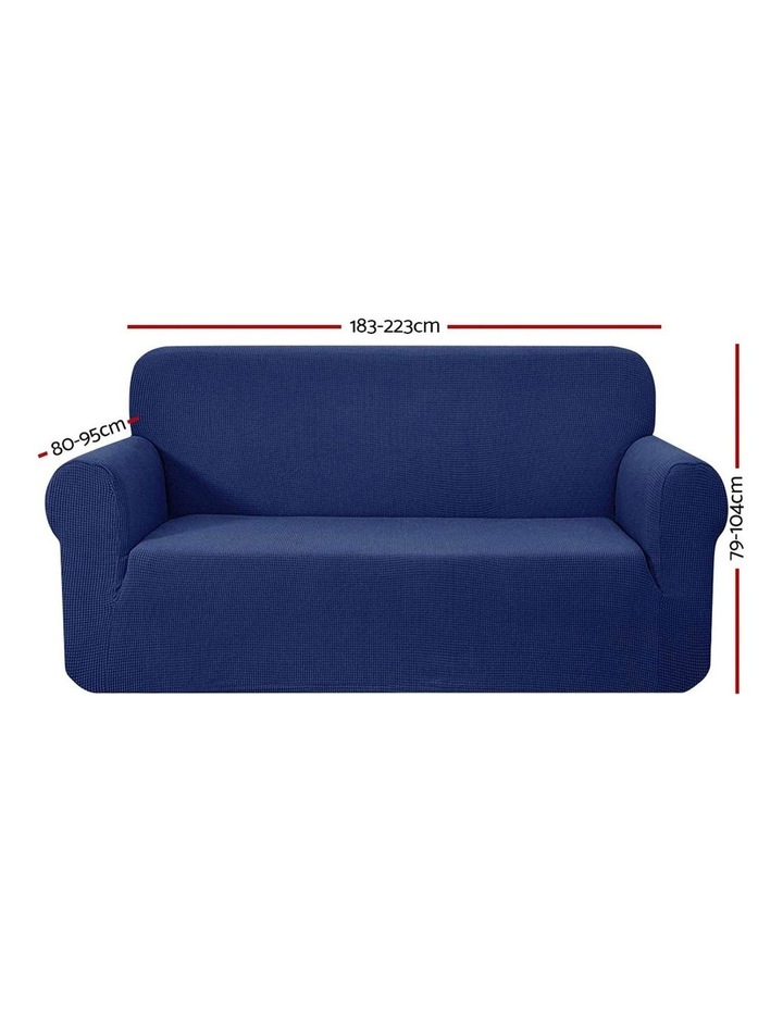 High Stretch Sofa Cover Couch Lounge Protector Slipcovers 3 Seater Navy image 2