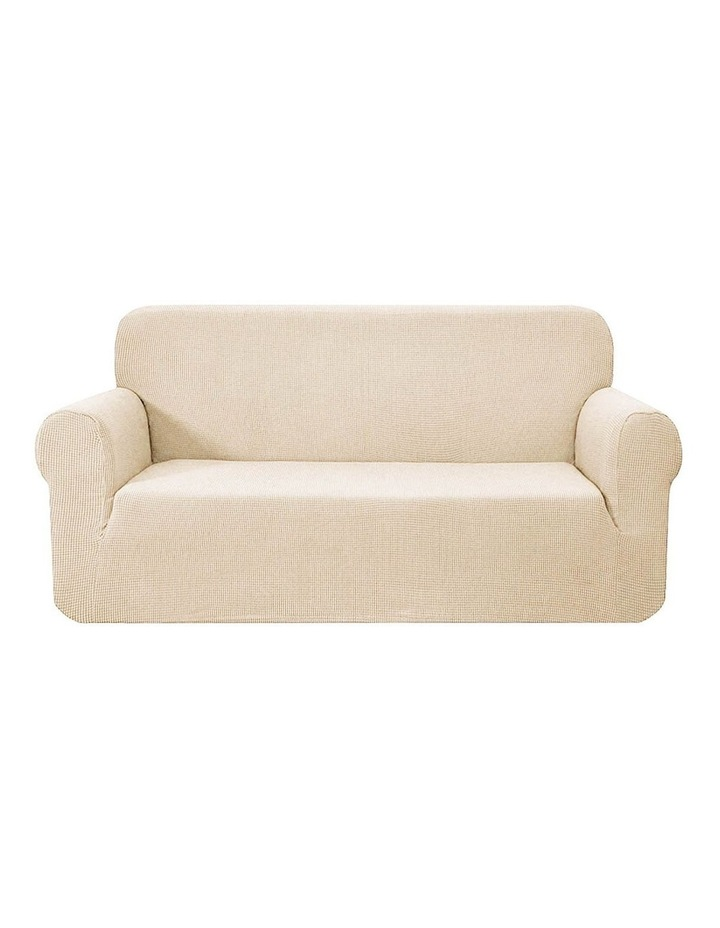 High Stretch Sofa Cover Couch Lounge Protector Slipcovers 3 Seater Sand image 1