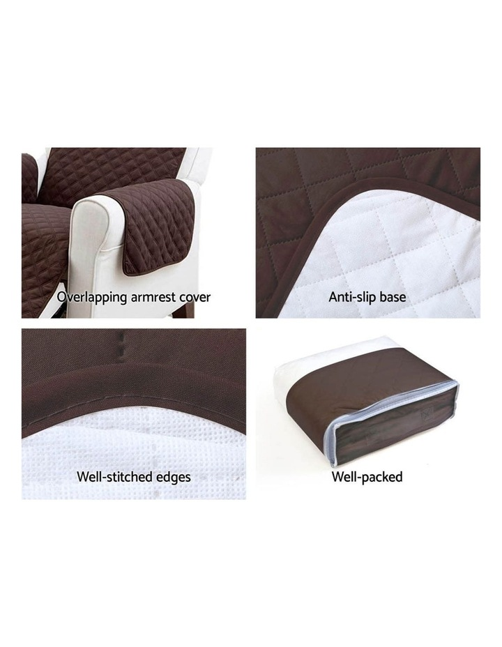 Sofa Cover Quilted Couch Covers Lounge Protector Slipcovers 1 Seater Coffee image 4