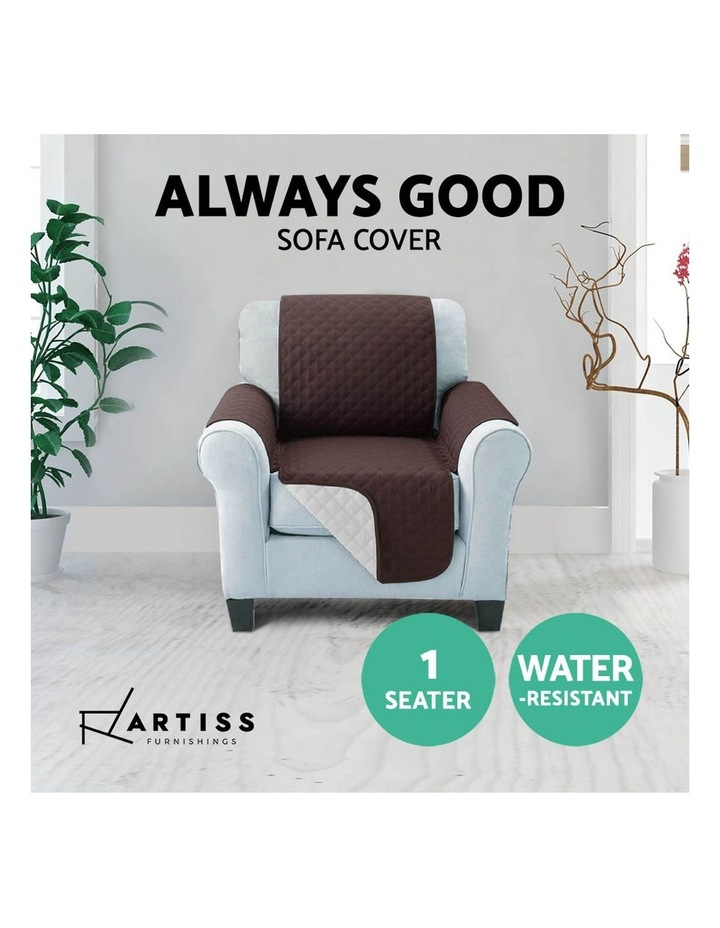 Sofa Cover Quilted Couch Covers Lounge Protector Slipcovers 1 Seater Coffee image 5