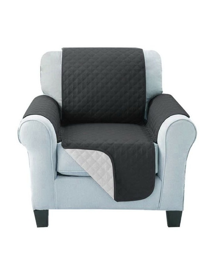 Sofa Cover Quilted Couch Covers Lounge Protector Slipcovers Chair Grey image 1