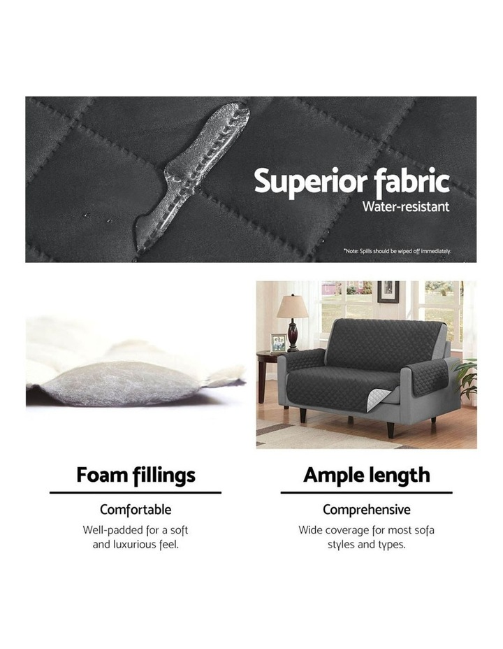 Sofa Cover Quilted Couch Covers Lounge Protector Slipcovers Chair Grey image 5