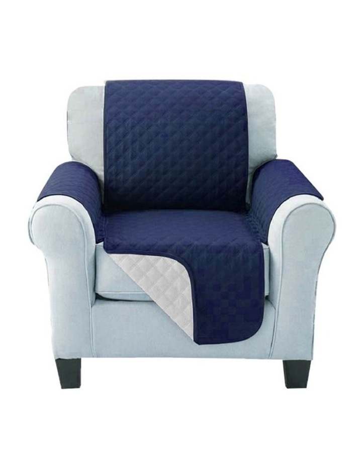 Sofa Cover Quilted Couch Covers Lounge Protector Slipcovers 1 Seater Navy image 1