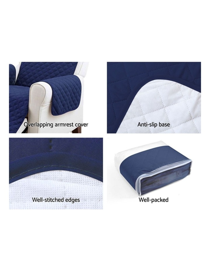 Sofa Cover Quilted Couch Covers Lounge Protector Slipcovers 1 Seater Navy image 4