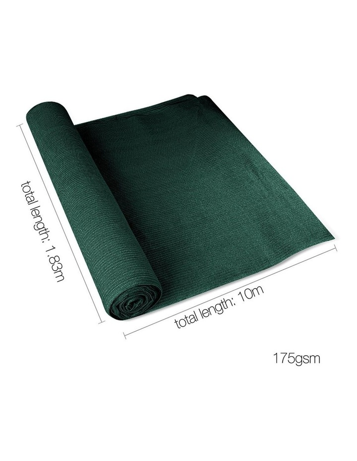 1.83 x 10m Shade Sail Cloth - Green image 2