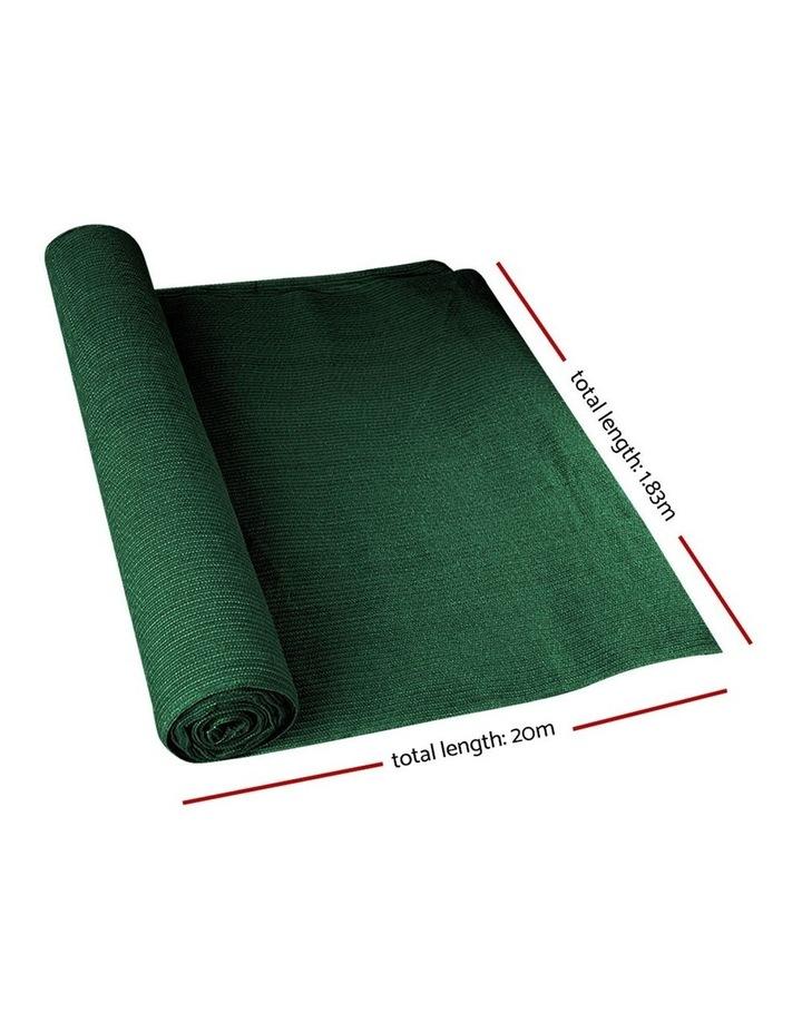 Instahut 50% Sun Shade Cloth Shadecloth Sail Roll Mesh Outdoor Green image 2