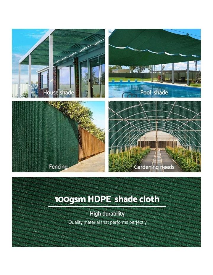 Instahut 50% Sun Shade Cloth Shadecloth Sail Roll Mesh Outdoor Green image 5
