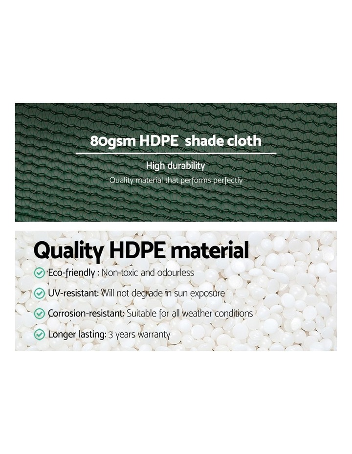 Instahut 1.83x20m 30% UV Shade Cloth Outdoor Green image 5