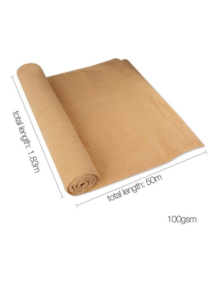 Instahut 1.83 x 50m Shade Sail Cloth - Beige image 2