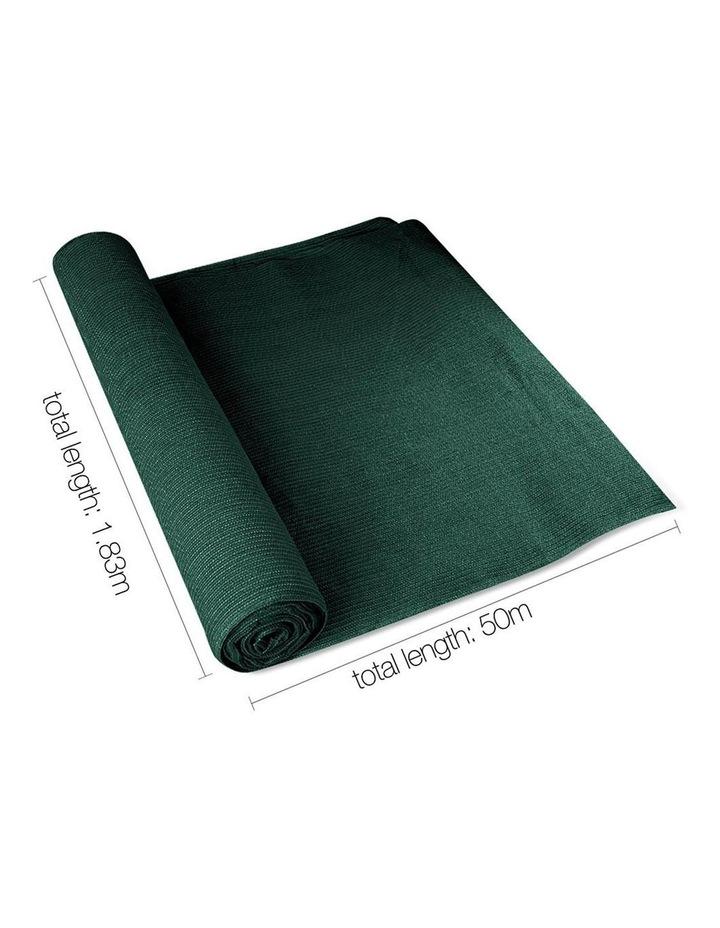Instahut 50% UV Sun Shade Cloth Outdoor 1.83x50m Green image 2