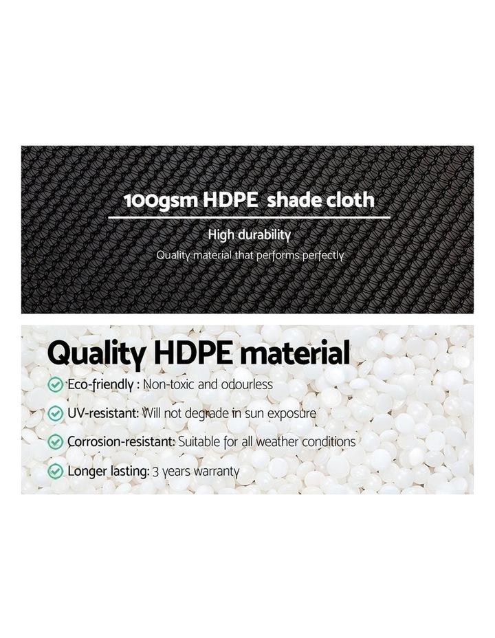 Instahut 3.66x10m 50% UV Shade Cloth Outdoor Black image 5