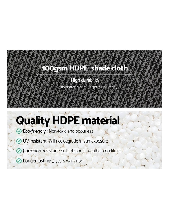 3.66x10m 50% UV Shade Cloth Outdoor White image 5