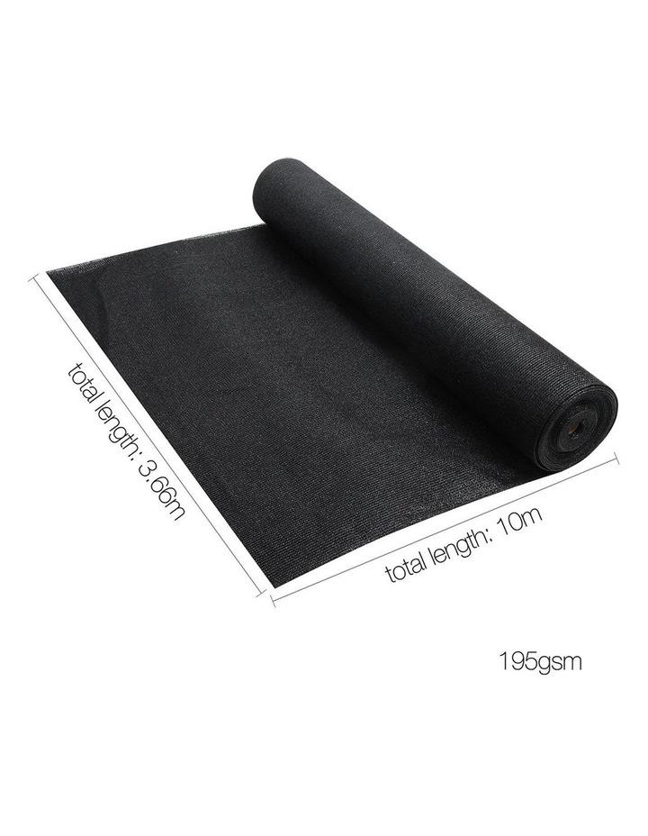 3.66 x 10m Shade Sail Cloth - Black image 2