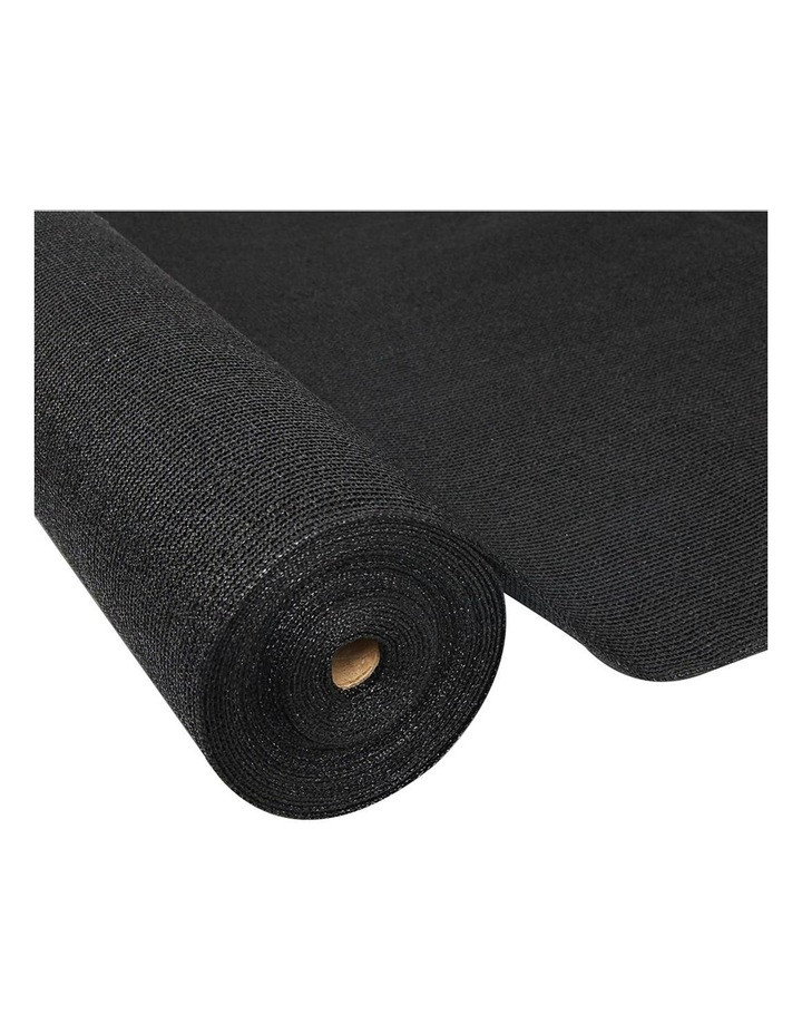 70% UV Sun Shade Cloth Shadecloth Sail Roll Mesh Garden Outdoor 3.66x20m Black image 1