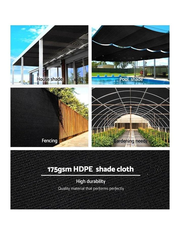 70% UV Sun Shade Cloth Shadecloth Sail Roll Mesh Garden Outdoor 3.66x20m Black image 5
