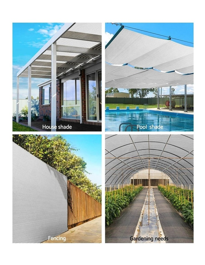 3.66x30m 50% UV Shade Cloth Outdoor White image 4