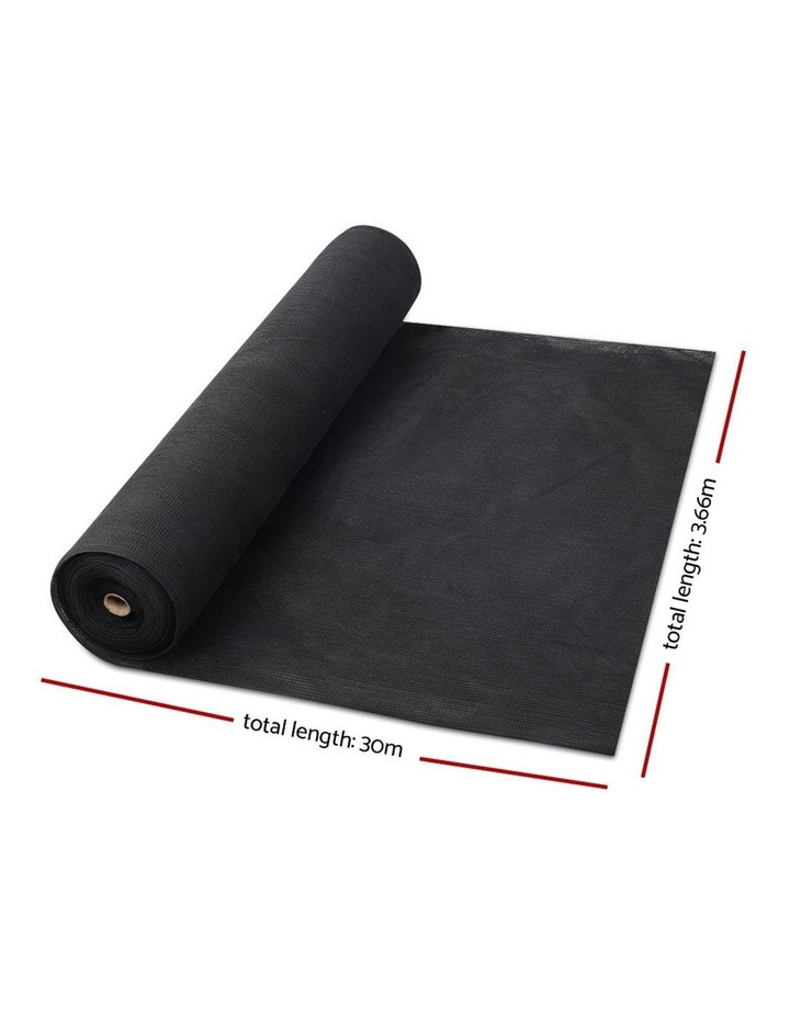 3.66x30m 30% UV Shade Cloth Outdoor Black image 2