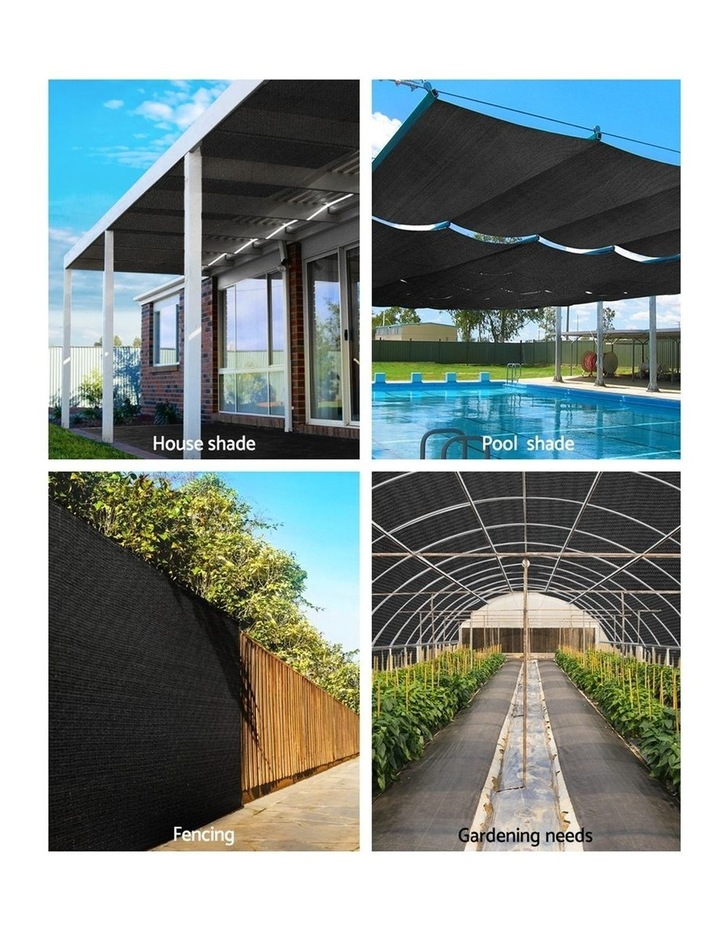 3.66x30m 30% UV Shade Cloth Outdoor Black image 4